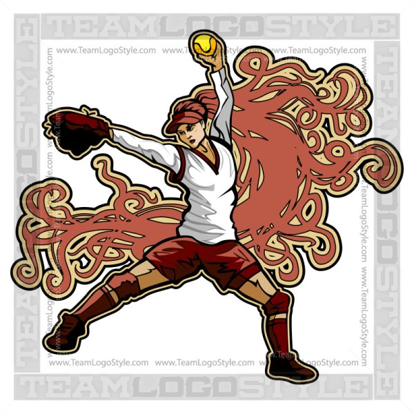 Fastpitch Softball Clip Art