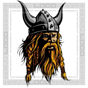Viking Head Clip Art - Vector Mascot Graphic