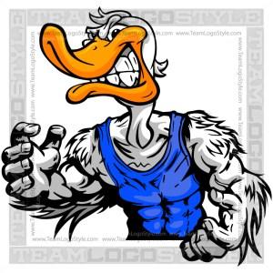 Duck in Wrestling Pose
