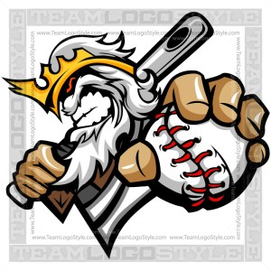 King Baseball Logo