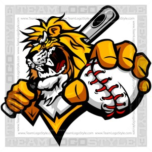 Lion Baseball Logo