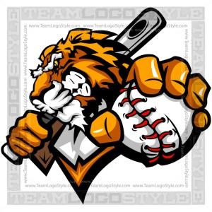 Tiger Baseball Logo