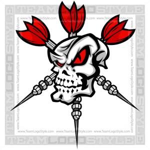 Vector Darts Skull