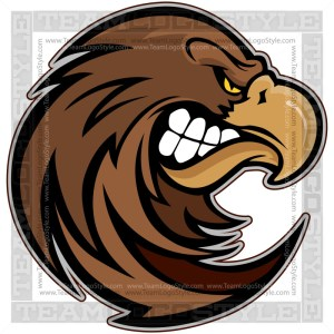 Hawk Team Mascot - Vector Clip Art
