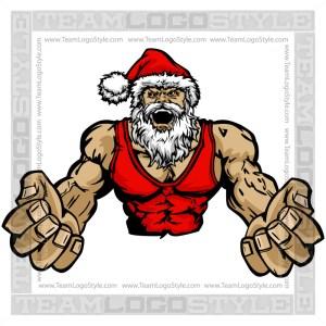 Wrestling Santa Claus