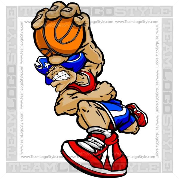 Basketball Patriot Cartoon