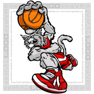 Basketball Wildcat Cartoon