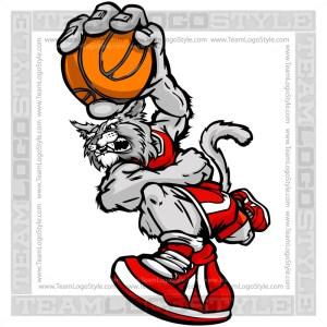 Basketball Wildcat Cartoon