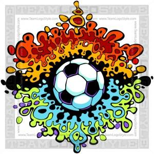 Splatter Soccer Art