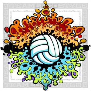 Splatter Volleyball Art