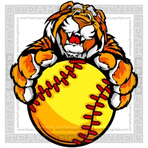 Tiger Softball Cartoon
