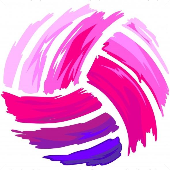 Pink Volleyball Shirt Art Vector Clipart Design