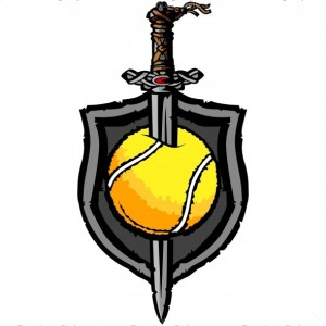 Viking Tennis Vector