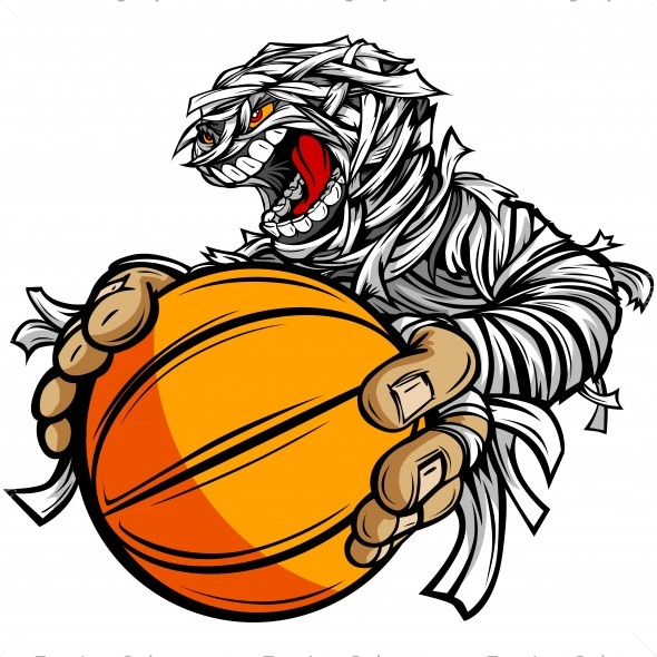 Mummy Basketball Clip Art