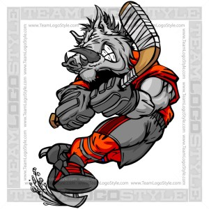 Razorback Hockey Player