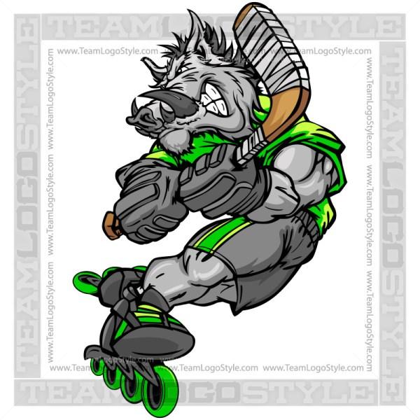 Razorback Roller Hockey Player