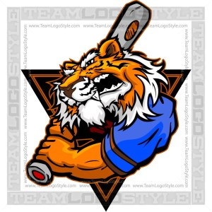 Cartoon Baseball Tiger