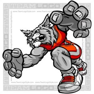 Wrestling Wildcat Cartoon