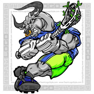 Bull Lacrosse Player