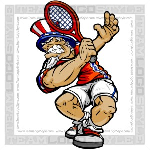 July 4th Tennis Art