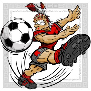 Soccer Indian Brave Cartoon