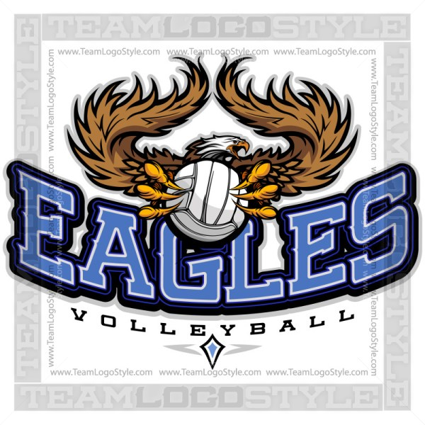 Team Logo - Eagles Volleyball