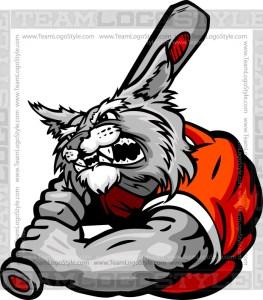 Cartoon Baseball Wildcat