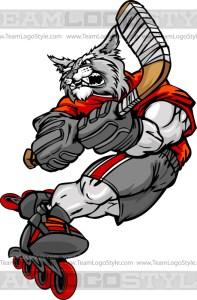 Wildcat Roller Hockey Player