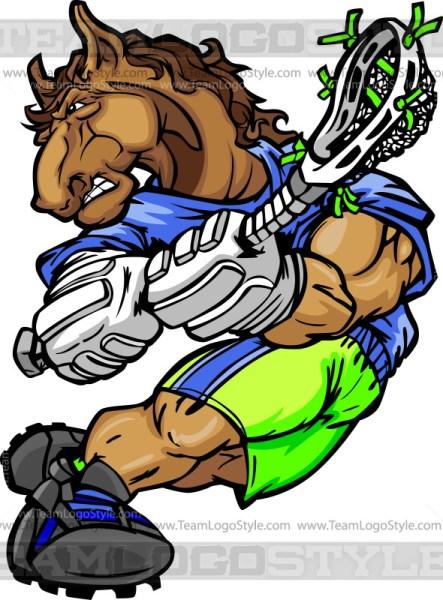 Bronco Lacrosse Clipart