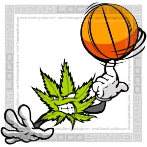 Basketball Marijuana Leaf Character