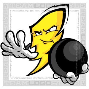 Bowling Power Cartoon