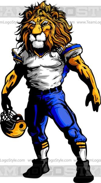 Lion Football Clipart