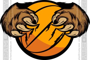 Bear Basketball Logo
