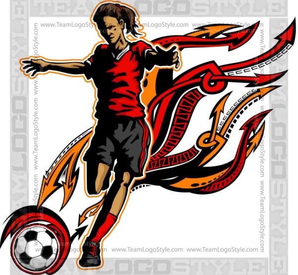 Girl Soccer Graphic