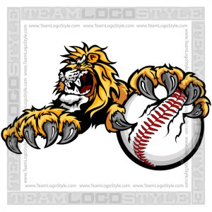 Lion Baseball Clip Art