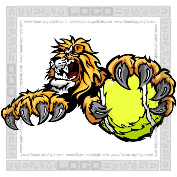 Lion Tennis Clip Art
