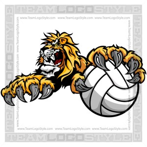 Lion Volleyball Clip Art