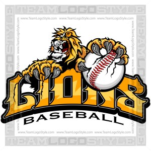 Lions Baseball Graphic