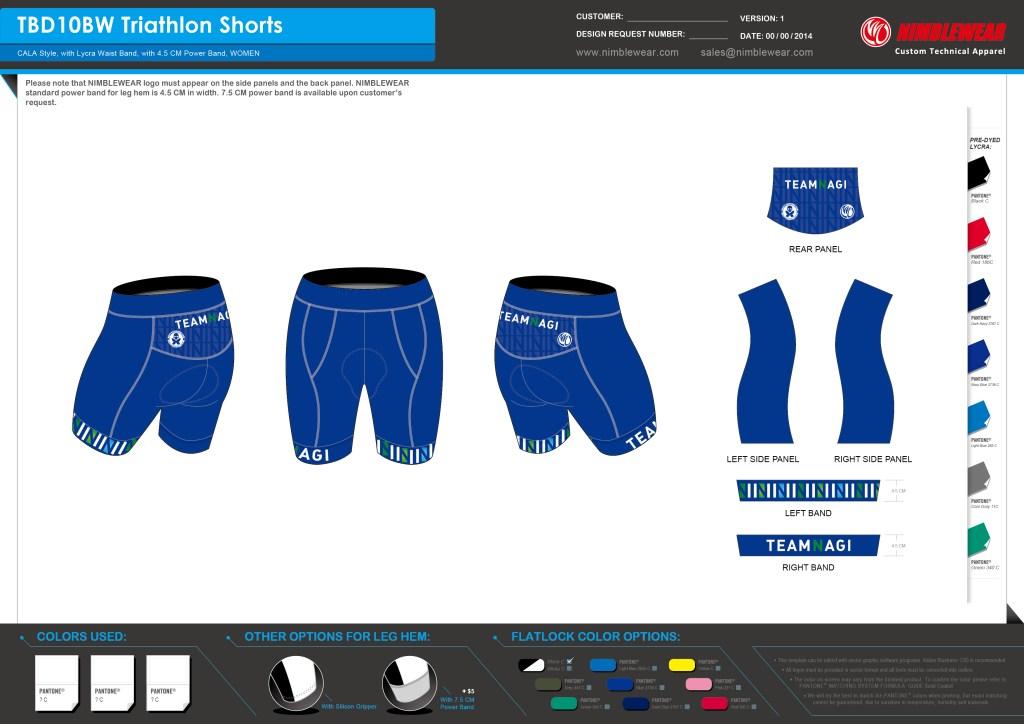 Women's Tri Shorts 0710
