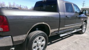 MEGA CAB CHROME ROCKER PANEL SIDE STEPS