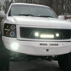 Silverado 1500 Iron Cross RS Bumper Paramount LED Grille