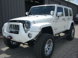 Push bar, lift kit., tires, wheels, lights