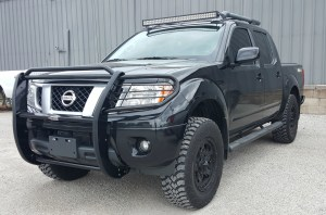 "Westin grille guard, 40"" LED light bar, Rock Star wheels"