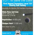 Save the Date: May 21, 2018, Local 727 Charity Golf Outing!