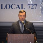 Teamster Local 727 Secretary-Treasurer Coli Attends Press Conference to Demand Trade Show Worker Relief