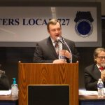 PHOTOS: At December Meeting, Local 727 Executive Board Sworn in for New Term, State of the Union Address Delivered by Secretary-Treasurer Coli