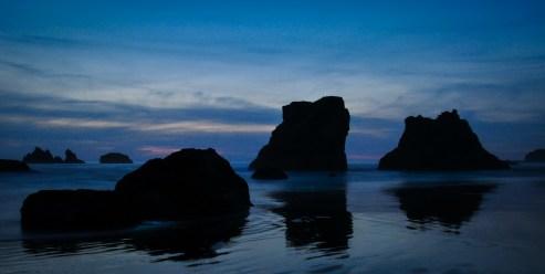 Seastacks at Sunset