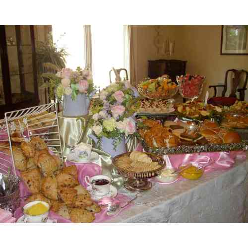 Medium Crop Of Tea Party Food