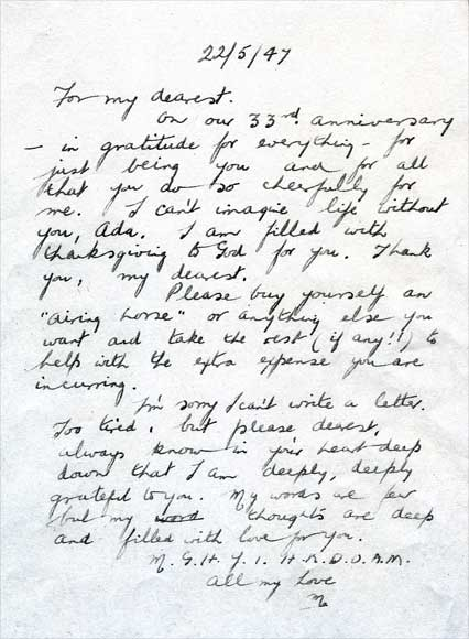 Love letter \u2013 Lesbian lives \u2013 Te Ara Encyclopedia of New Zealand - Love Letter