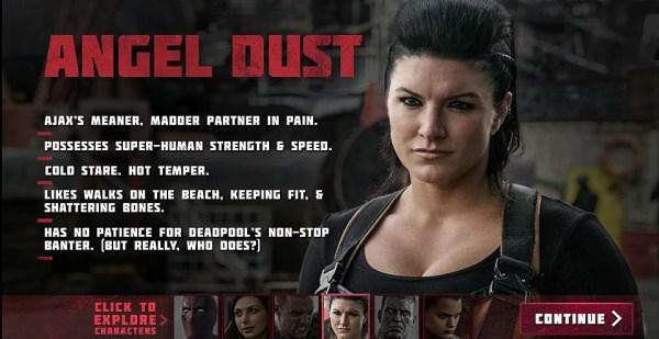 Deadpool Movie - Gina Carano as Angel Dust